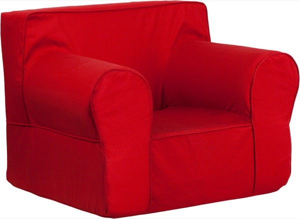 Flash Furniture dg-lge-ch-kid-solid-red-gg Oversized Solid Red Kids Chair