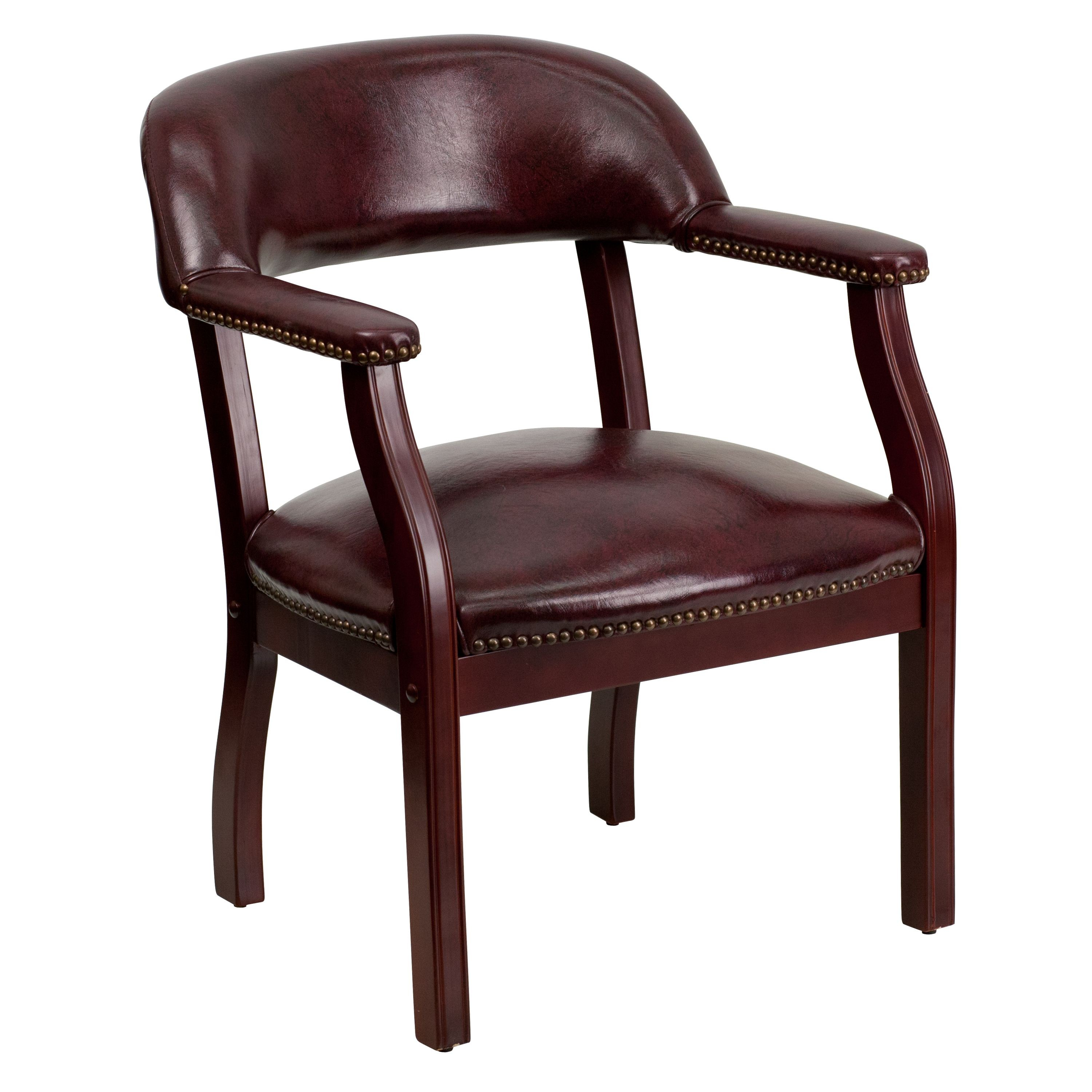 Flash Furniture B-Z105-OXBLOOD-GG Oxblood Vinyl Luxurious Conference Chair