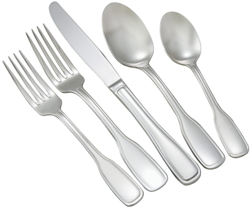 Winco OXFORD-HVY Oxford Extra Heavy Weight 5-Piece Place Setting for 12 (60/Pack)