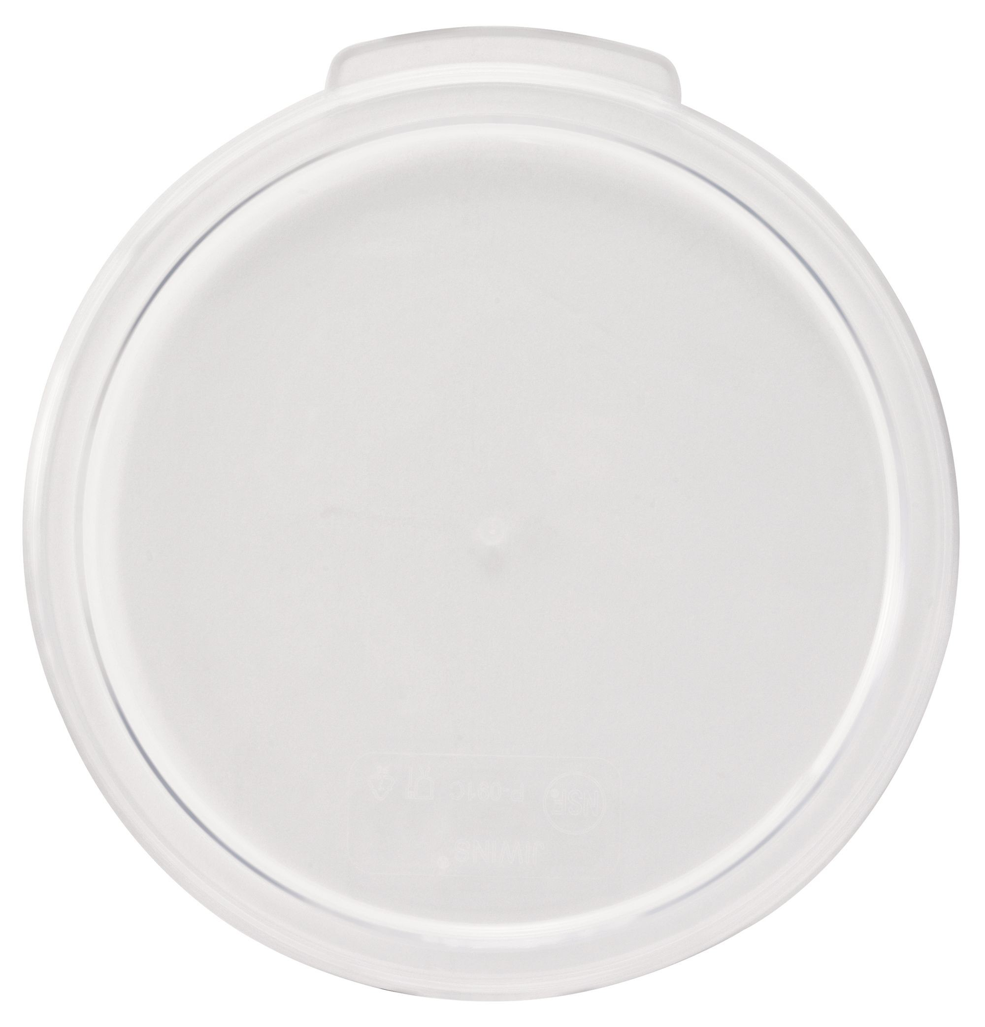 Winco PCRC-1C Round Polycarbonate Cover, Fits 1 Qt.