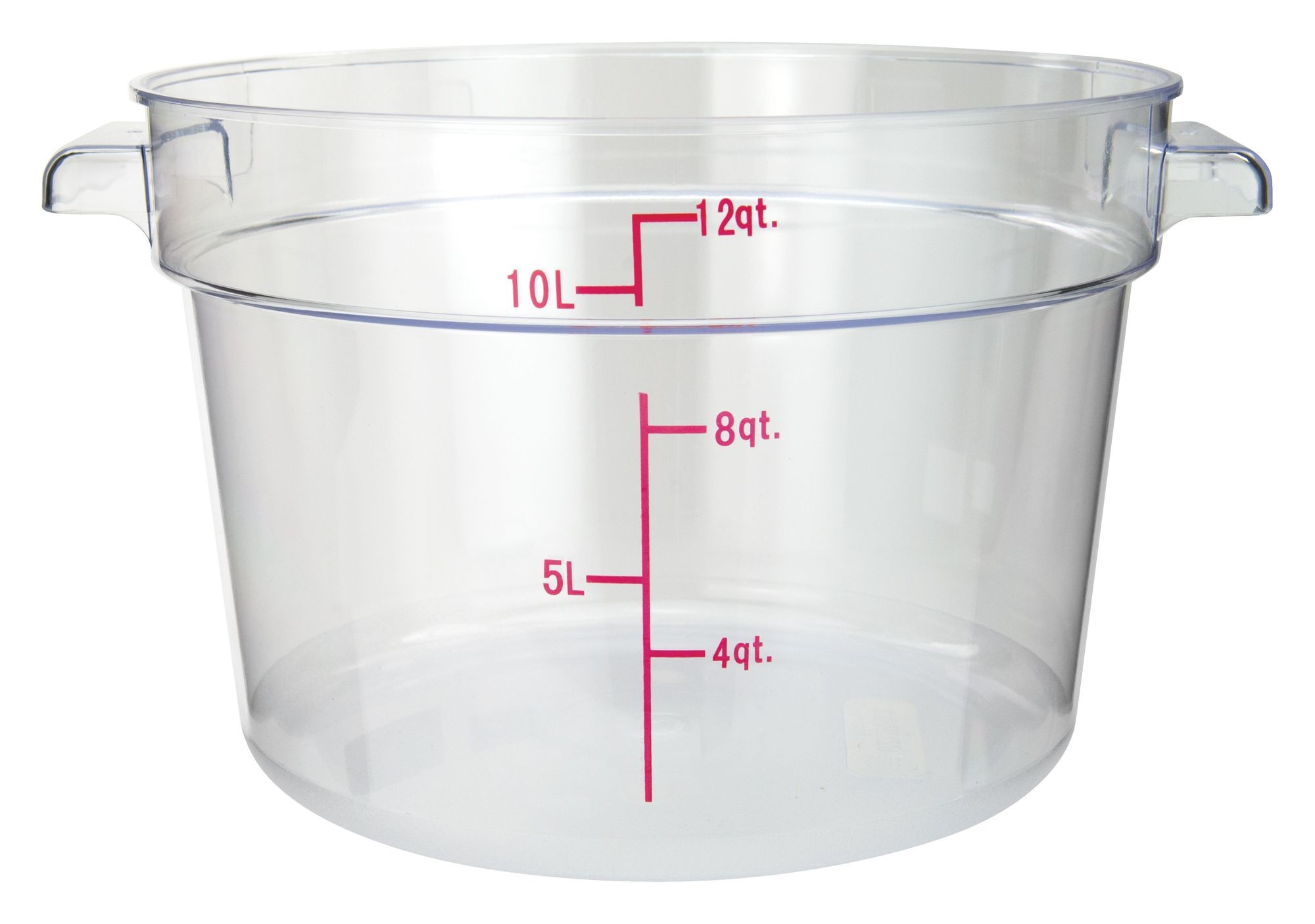 PC Round Storage Container, 12Qt