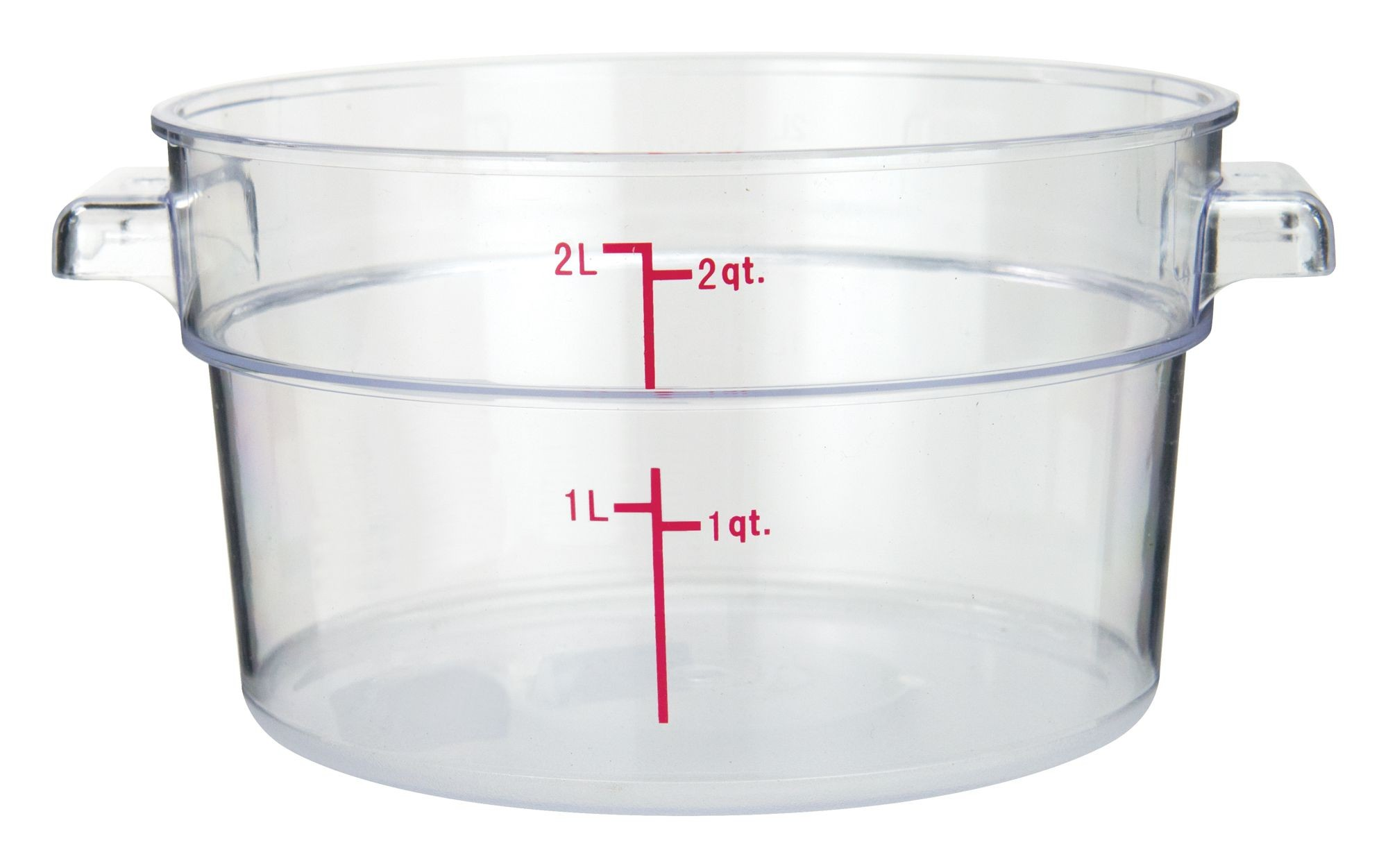 PC Round Storage Container, 2Qt