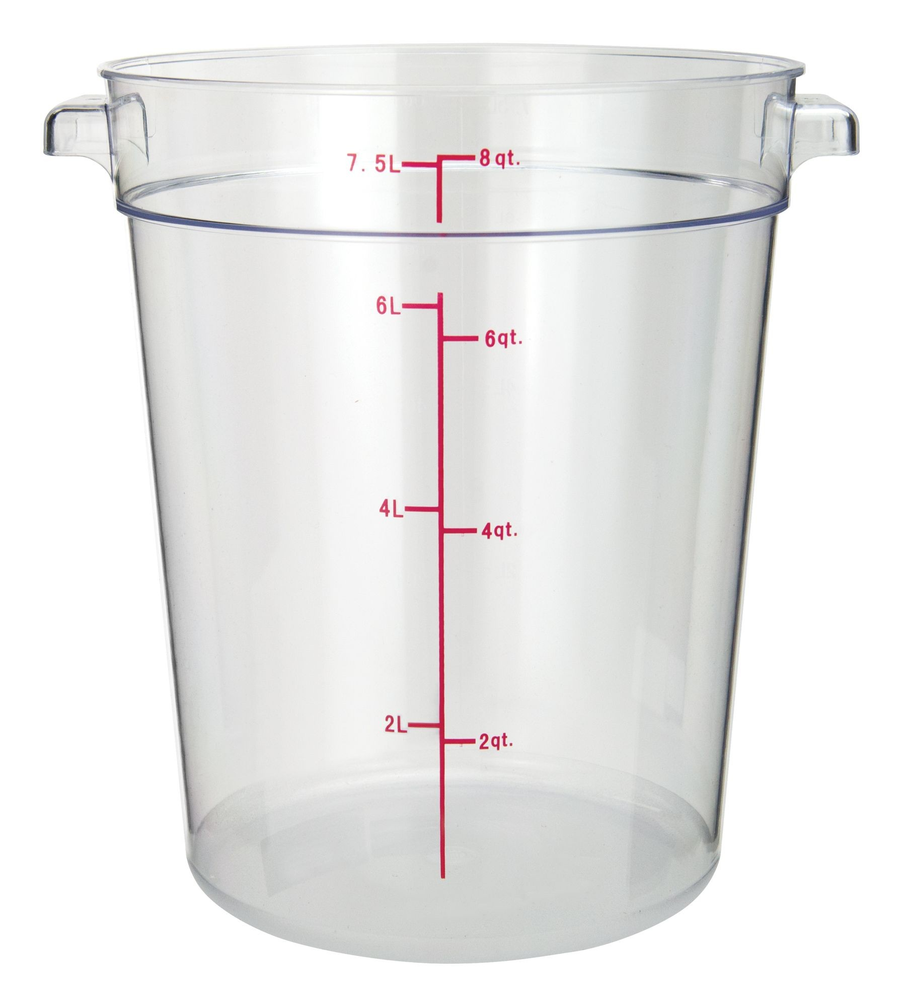 PC Round Storage Container, 8Qt