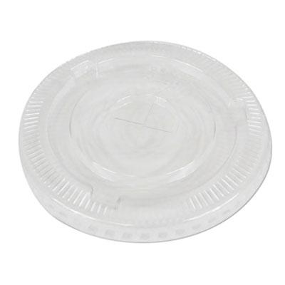 PET Cold Cup Lids, Fits 16-24 oz Plastic Cups, Clear, 1000/Carton