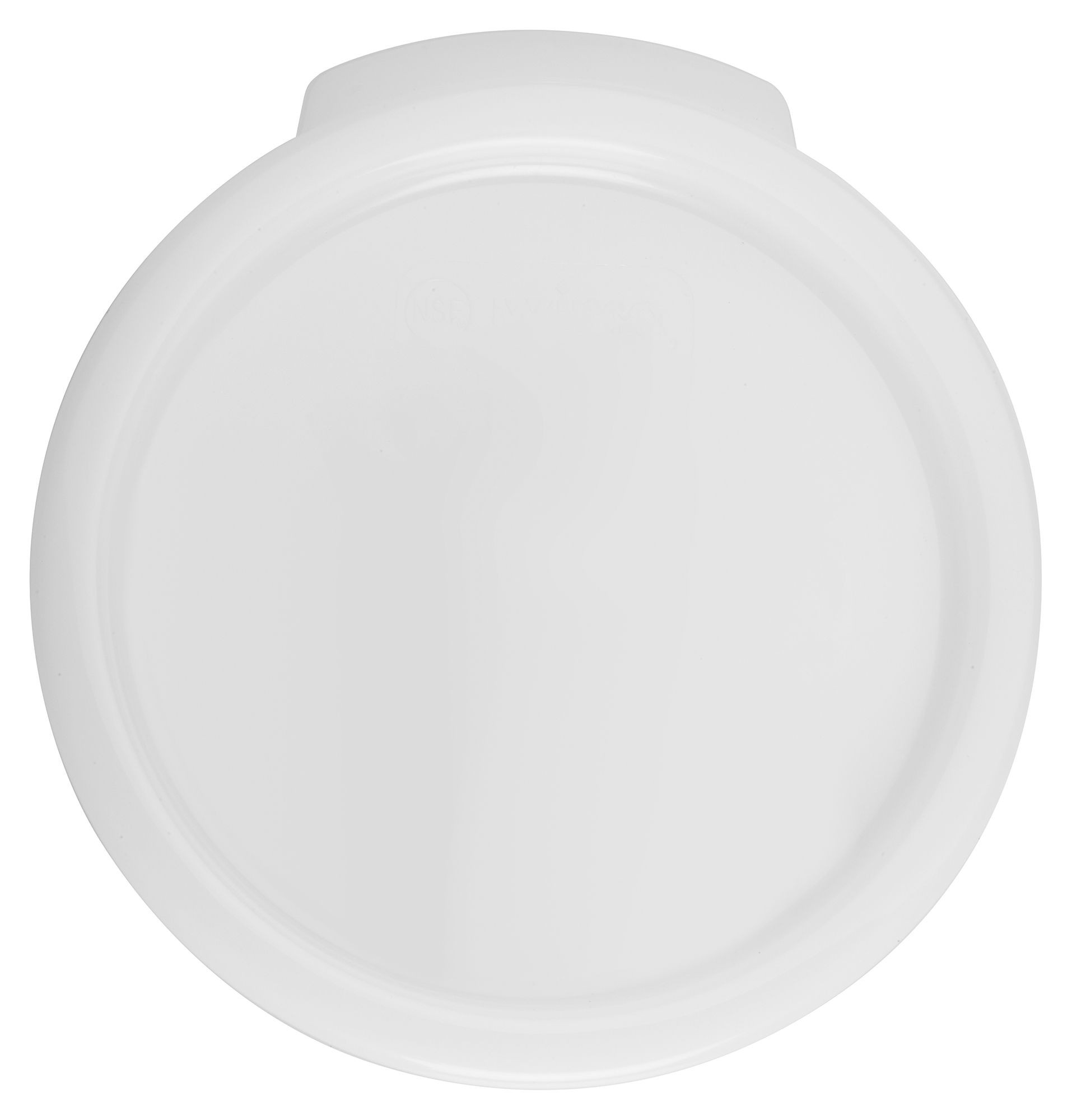 Winco PPRC-24C White Round Cover fits 2 and 4 Qt. Storage Containers