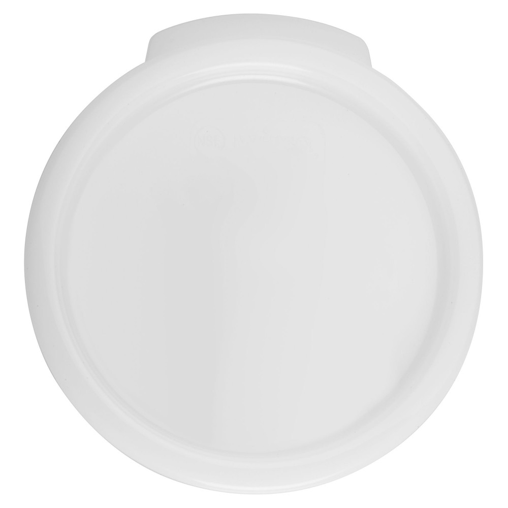 Winco rc-68c White Round Cover fits 6 and 8 Qt. Storage Containers