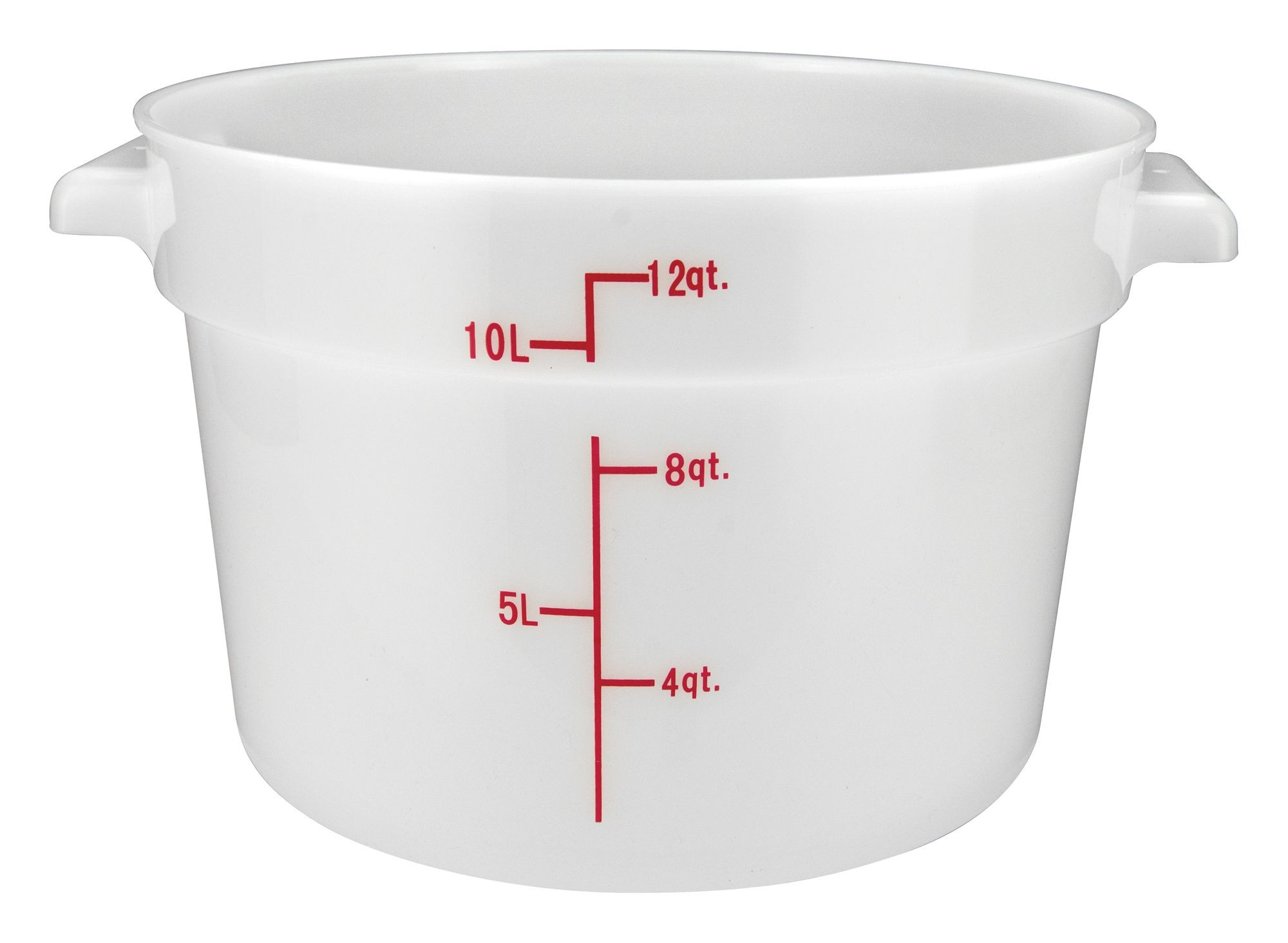 Winco PPRC-12W White Round Storage Container, 12 Qt