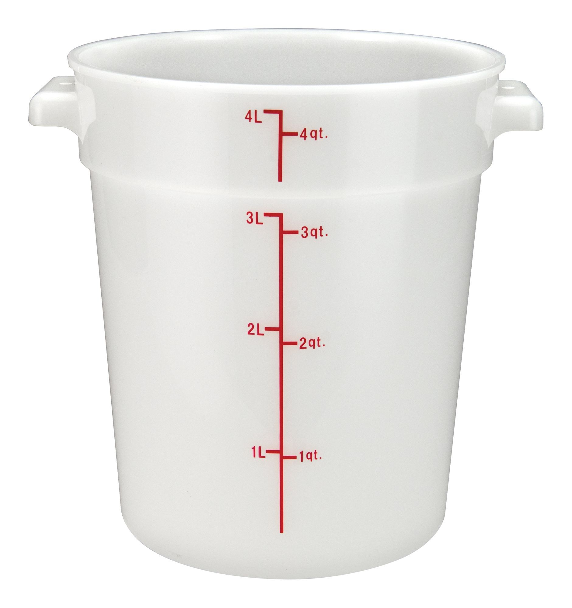 Winco rc-4w White Round Storage Container, 4 Qt.