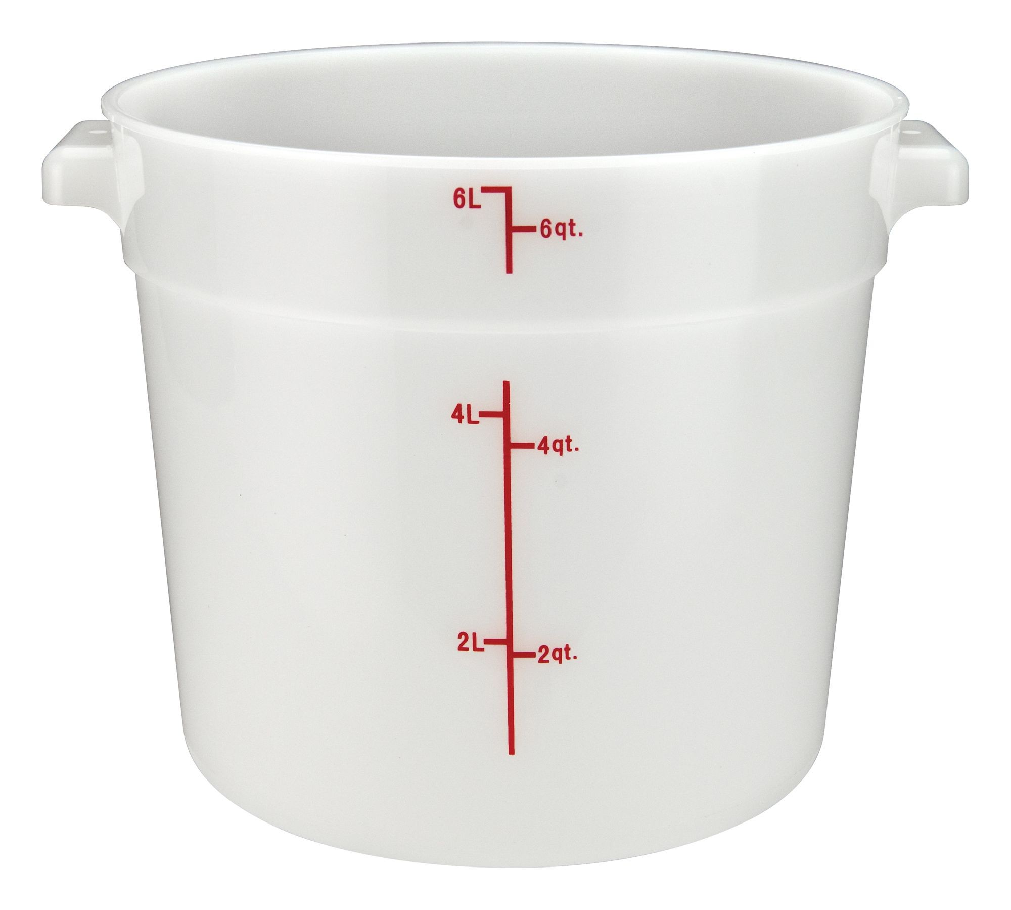PP Round Storage Container, 6Qt, White