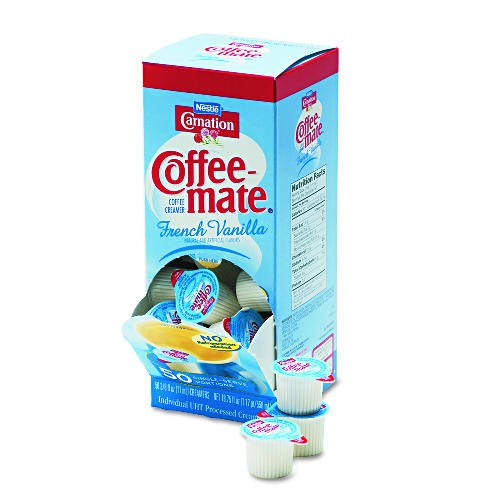 Pactiv Corporation French Vanilla Coffee Mate Non-Dairy Creamers (Box of 200)