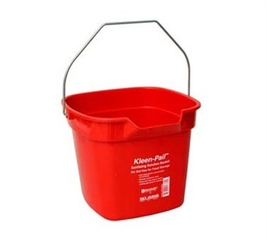 Franklin Machine Products  150-6016 Pail, Cleaning (Red, 10 Qt )