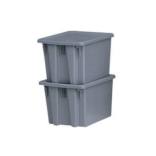 Palletote Box, 2.6 Cubic Yards, Gray
