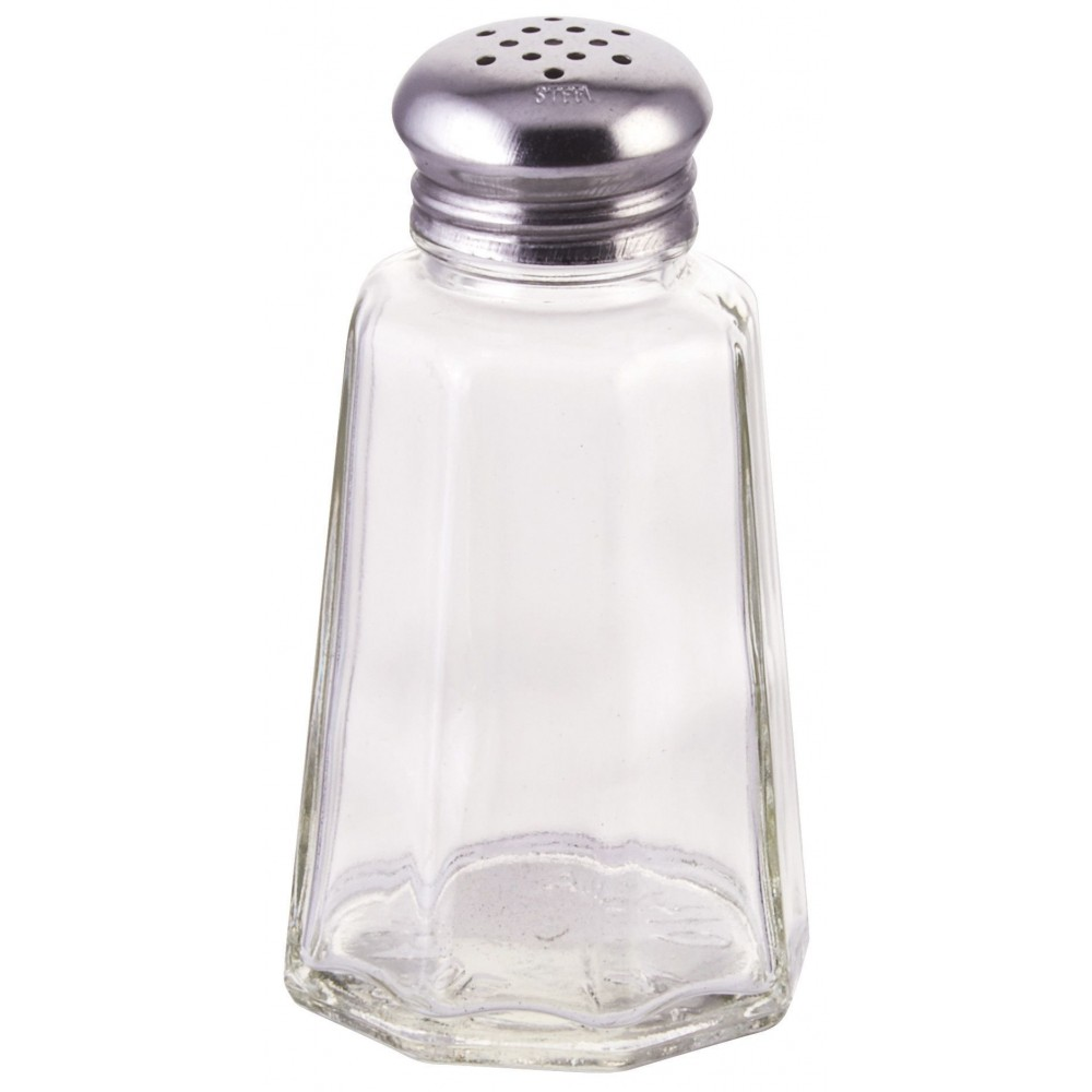 Paneled 2 Oz. Glass Salt Shaker With Mushroom Top