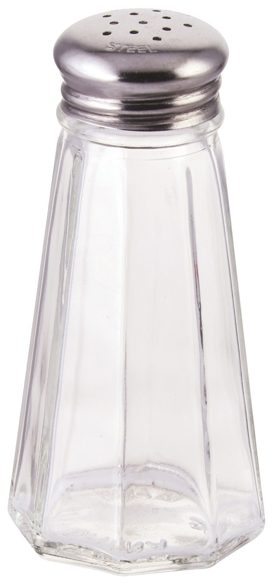 Paneled 3 Oz. Glass Salt Shaker With Mushroom Top
