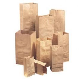 Paper Bag, 20#, 8-1/4 x 15-7/8, 57-Pound Base Weight, Brown Kraft, 500-Bundle