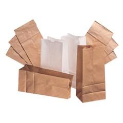 Paper Bag, 30-Pound Base Weight, Brown Kraft, 3#, 4-3/4 x 3-9/16, 500-Bundle