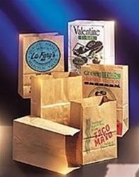 Paper Bag, Natural Grocery Sack, 1/8 BBL 52#, 500-Bundle