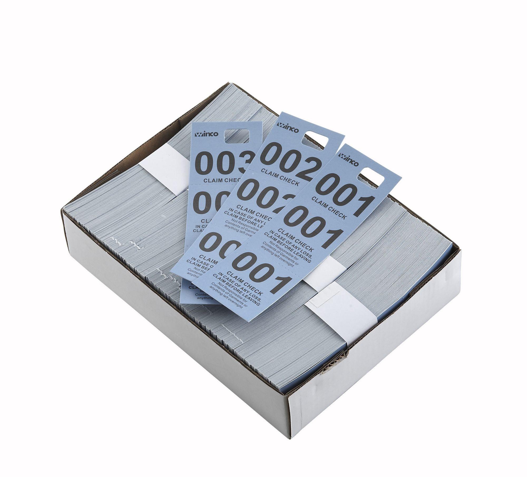Winco CCK-5BL Blue Coat Check Tags (500 Pieces per Box) - LionsDeal