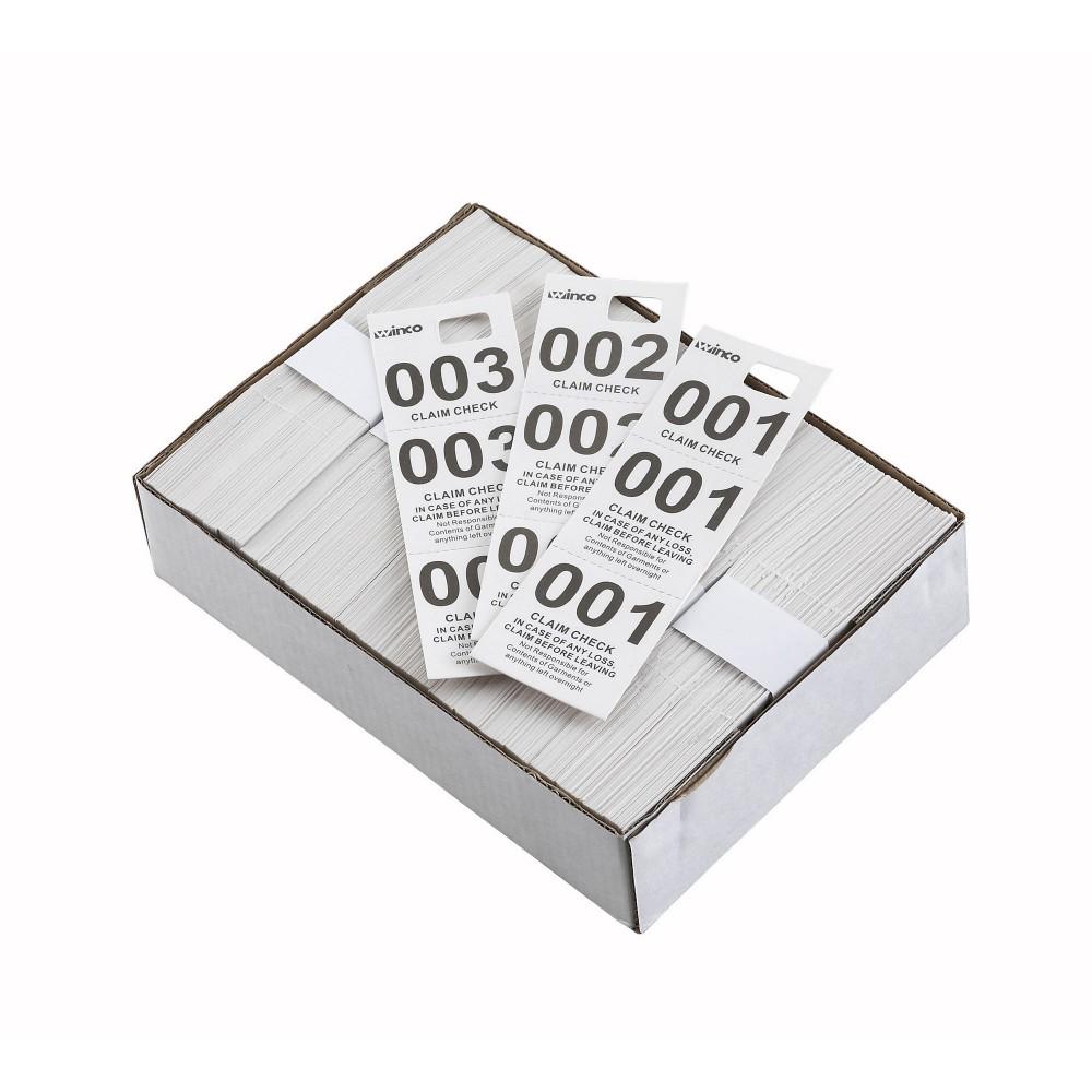 Paper Coat Check Tags 500 pcs/box