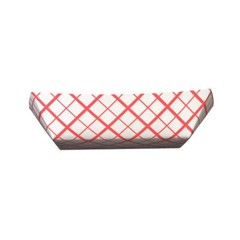 Paper Food Baskets, 3lb, Red/White