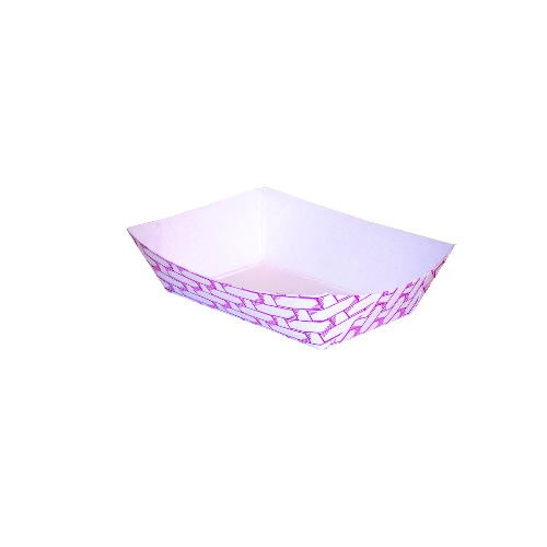 Paper Food Tray with Red Weave 1/4 lb.