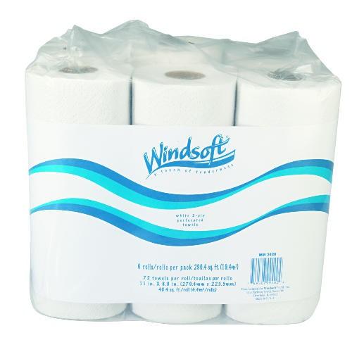 11 X 8 4//5 White WIN2420 Paper Towel Roll