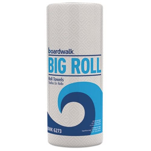 Paper Towel Rolls, 2-Ply, 11 x 8.5, White, 250/Roll, 12 Rolls/Carton
