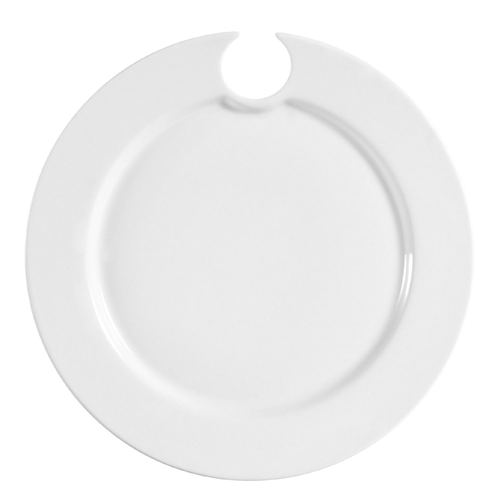 CAC China COL-P8 Round Party Plate with Stemware Hole 9""