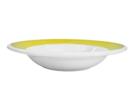 CAC China R-125-Y Rainbow Yellow Pasta Bowl 30 oz.