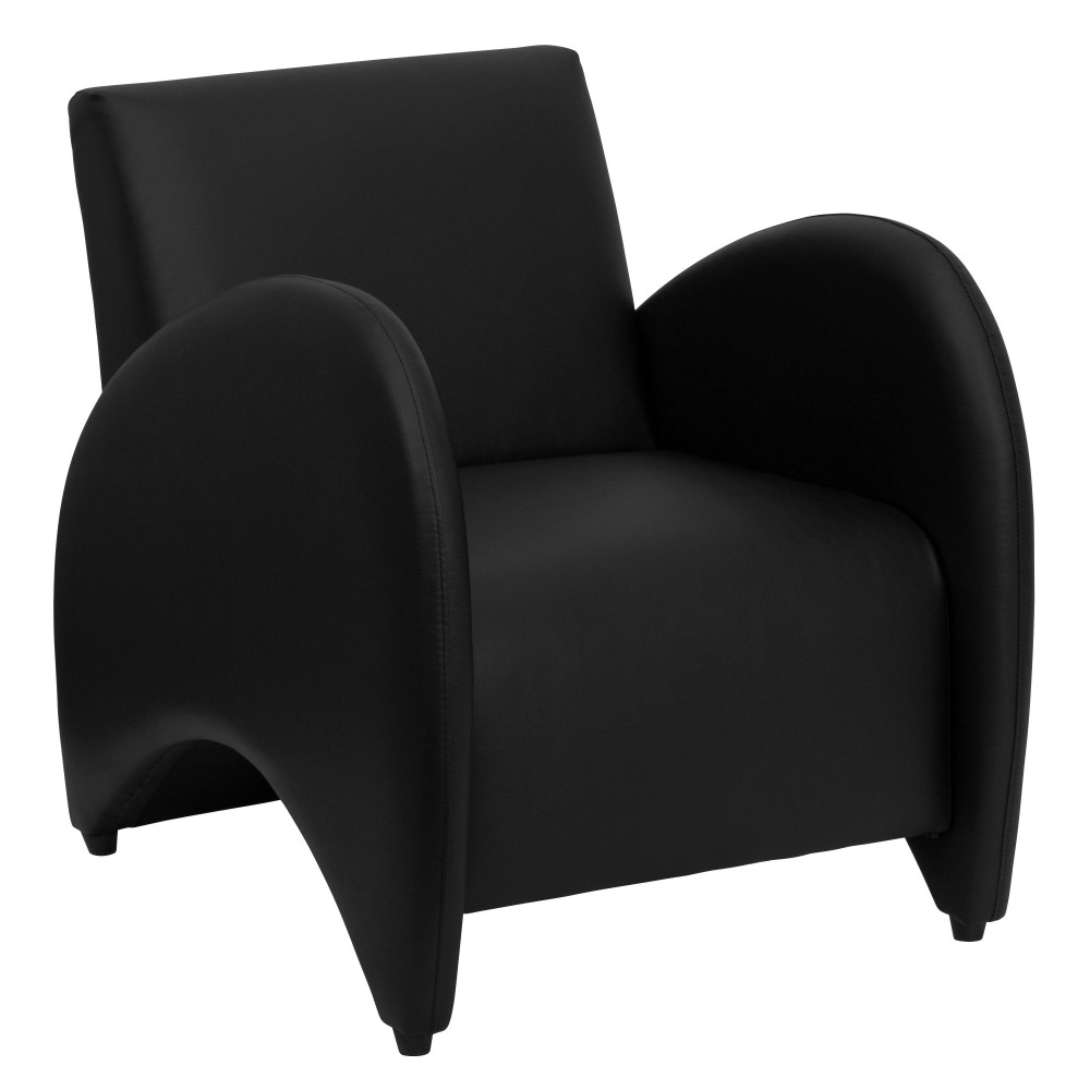 Patrician Series Black Leather Reception Chair