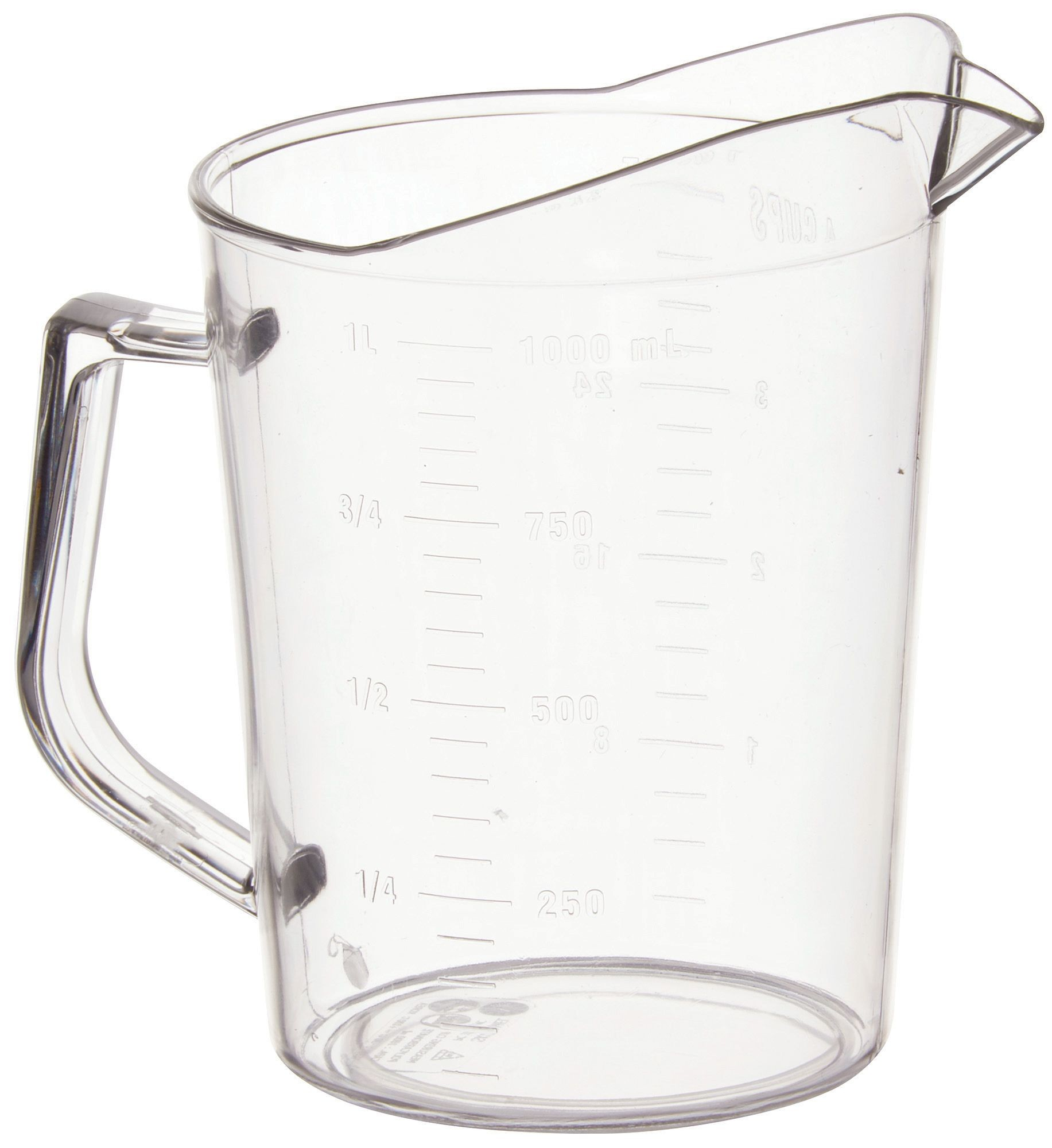 Winco PMU-100 Polycarbonate 1 Qt. Measuring Cup