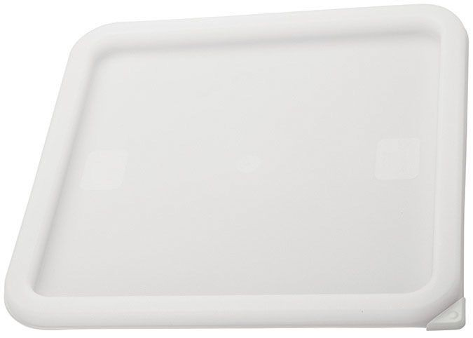 Winco PECC-L White Container Cover fits 12, 18 & 22 Qt Square Cover