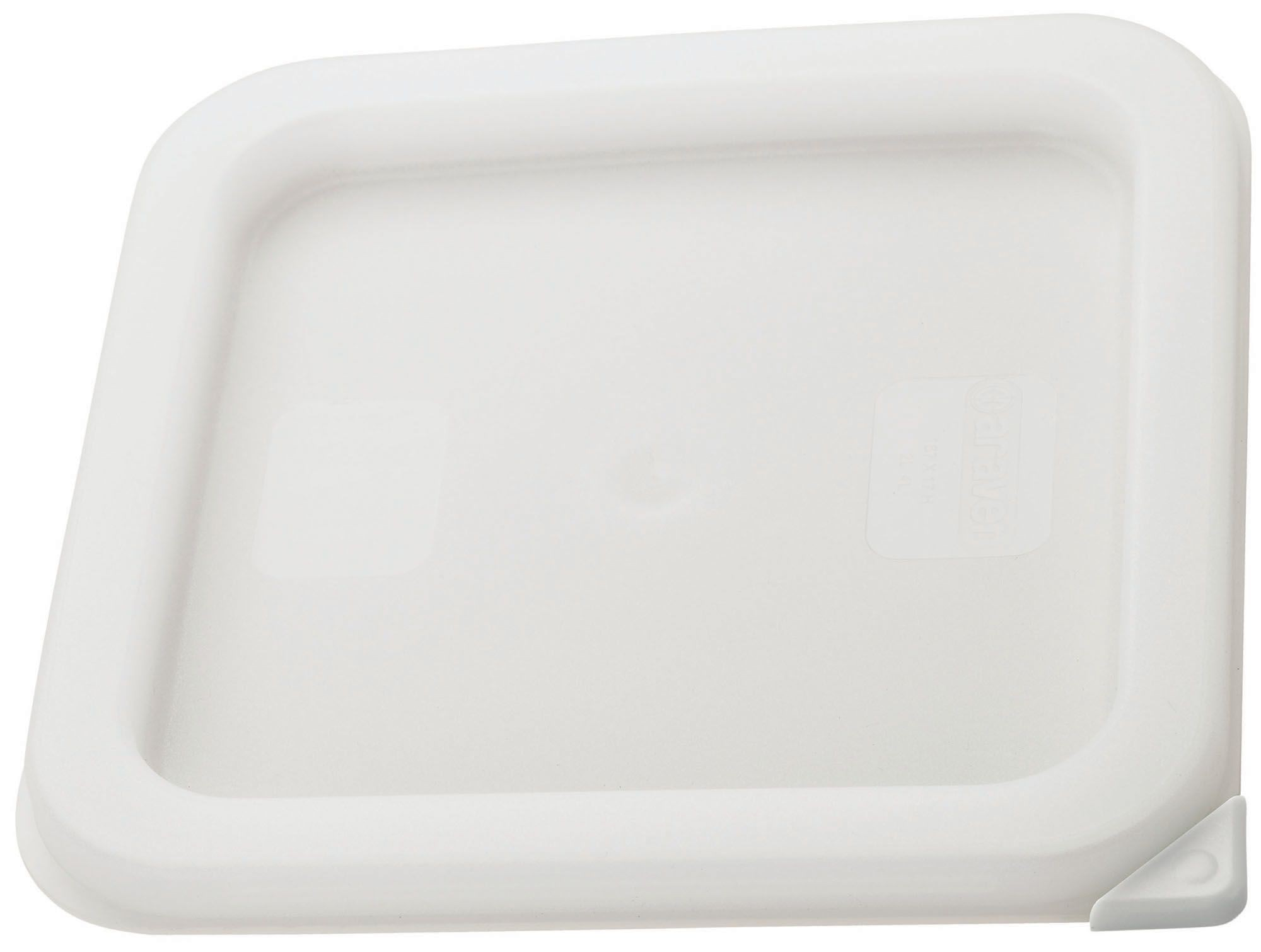 Pe Square Cover, White Fits 2 & 4Qt