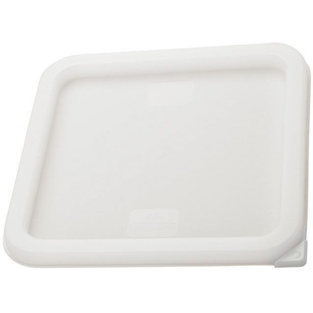 Winco PECC-M White Container Cover Fits 6 & 8 Qt Square Containers