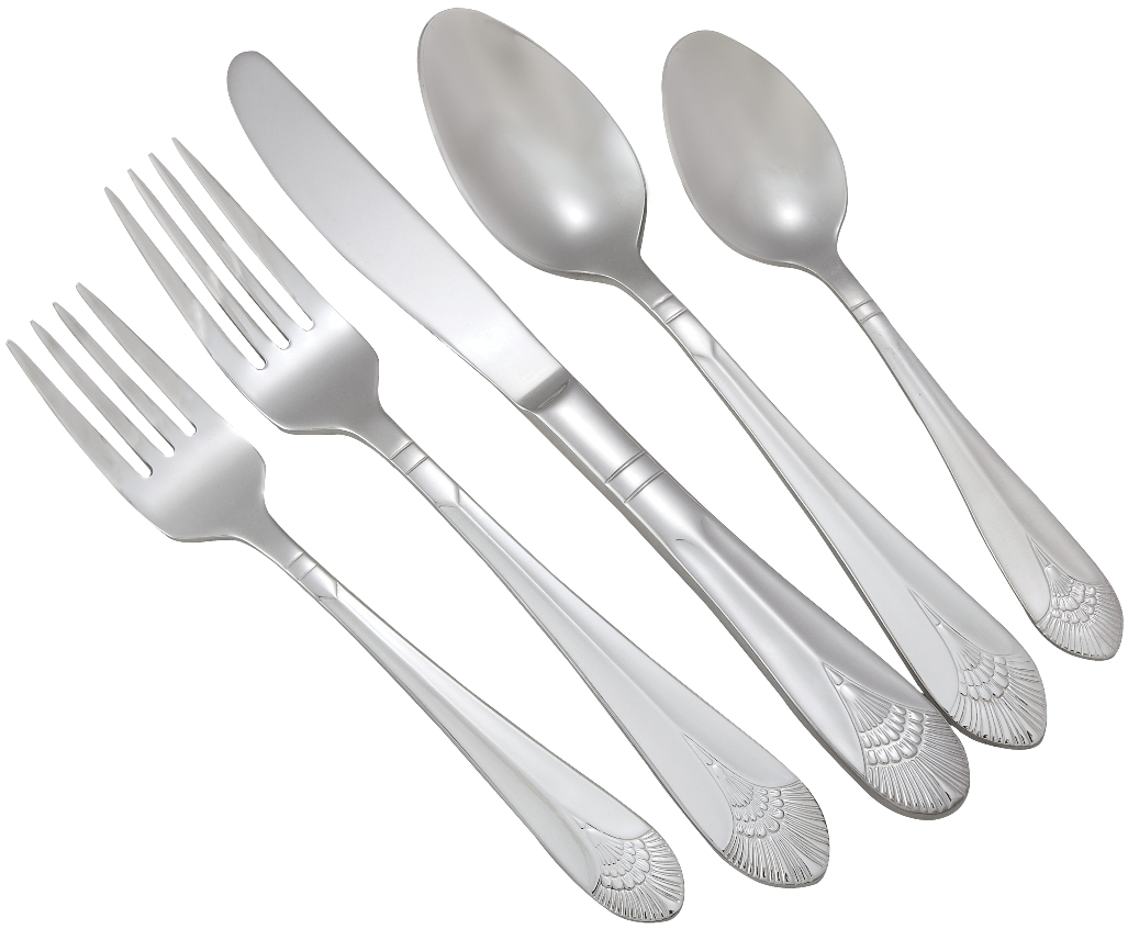 Winco PEACOCK-HVY Peacock Extra Heavy Weight 5-Piece Place Setting for 12 (60/Pack)