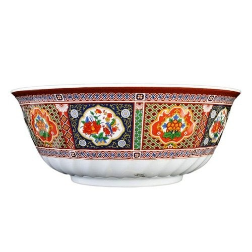 Thunder Group 5306TP Peacock Melamine Swirl Bowl 21 oz.