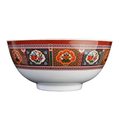 Thunder Group 5207TP Peacock Melamine Rice Bowl 39 oz.
