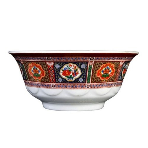 Thunder Group 5275TP Peacock Melamine Scallop Edge Bowl 34 oz.