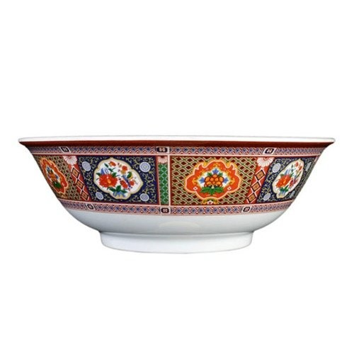 Thunder Group 5075TP Peacock Melamine Rimless Bowl 52 oz., 8-3/4""
