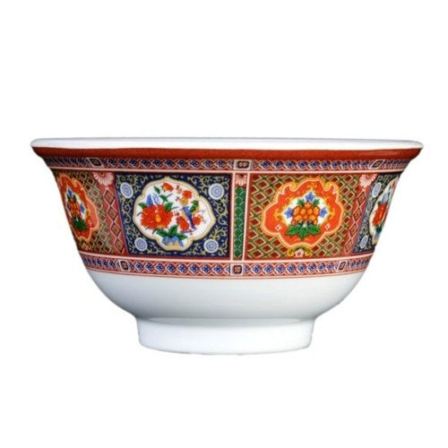 "Thunder Group 3006TP Peacock Melamine Rice Bowl 8 oz., 4-3/8"" Dia."