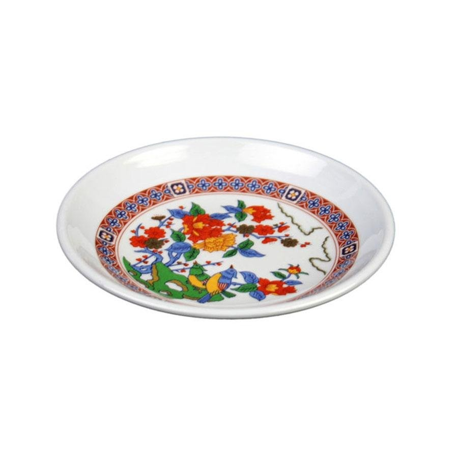 Thunder Group 1004TP Peacock Melamine Round Plate 4-1/2""