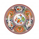 Thunder Group 1010TP Peacock Melamine Round Plate 10-3/8""