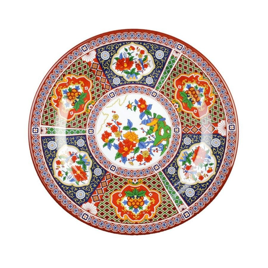 Thunder Group 1014TP Peacock Melamine Round Plate 14-1/8""