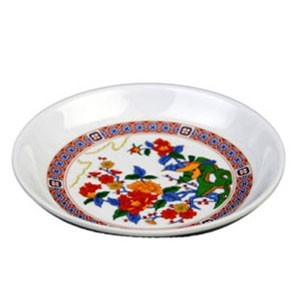 Thunder Group 1003TP Peacock Melamine Sauce Dish 3 oz.