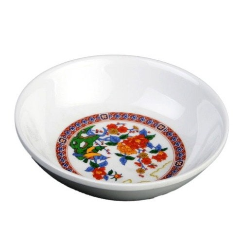 Thunder Group 1101TP Peacock Melamine Sauce Dish 1 oz.