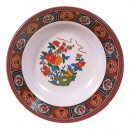 Thunder Group 1108TP Peacock Melamine Soup Plate 7 oz.