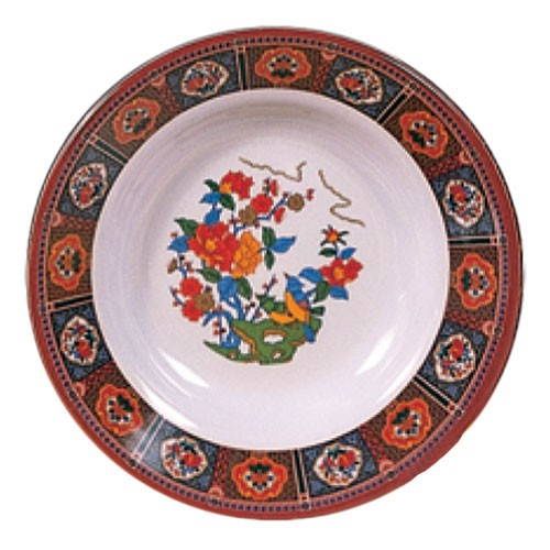 Thunder Group 1110TP Peacock Melamine Soup Plate 12 oz.