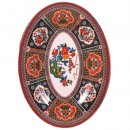 "Thunder Group 2008TP Peacock Oval Melamine Platter, 8"" x 6"""