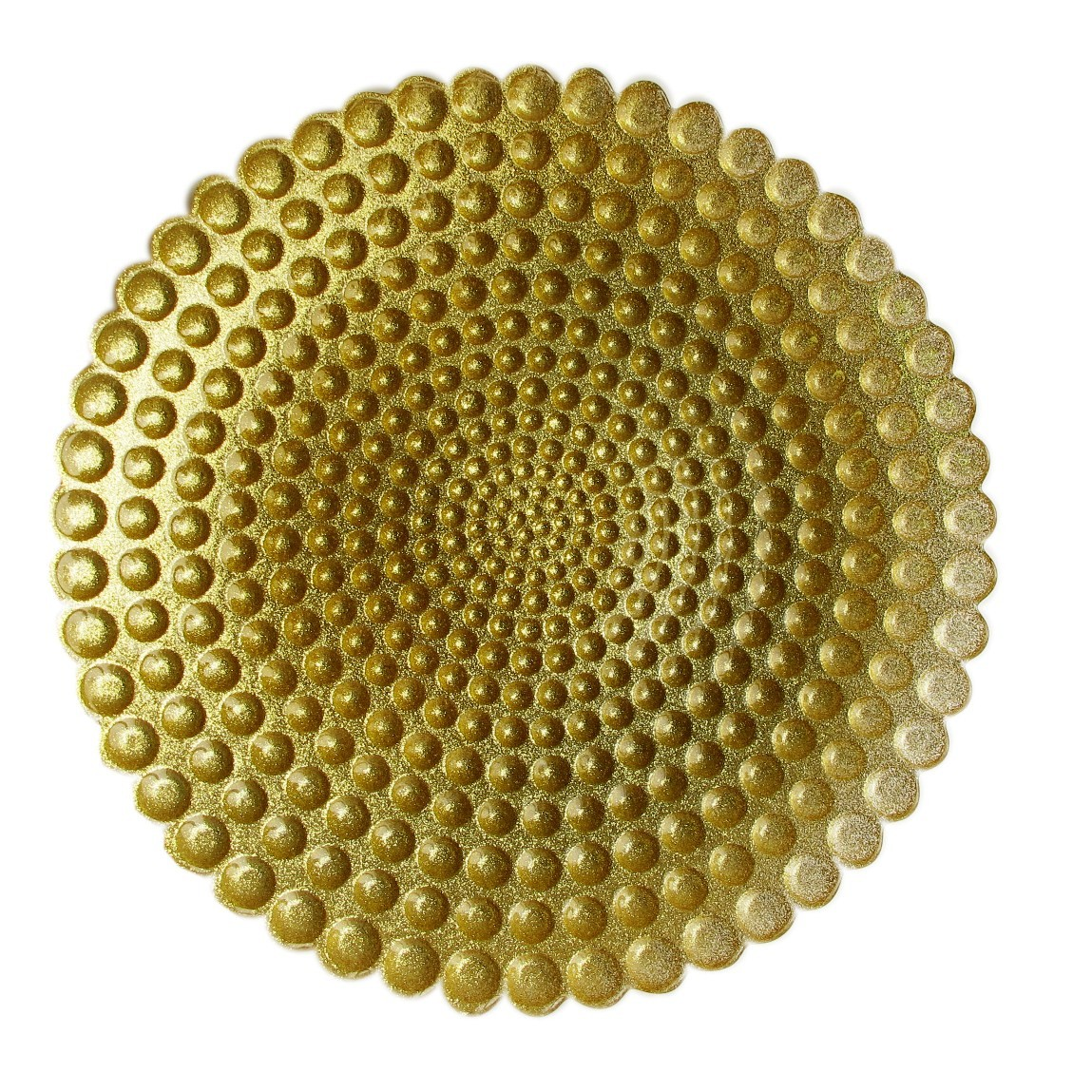 Pearl Charger Plate-Gold 12.5