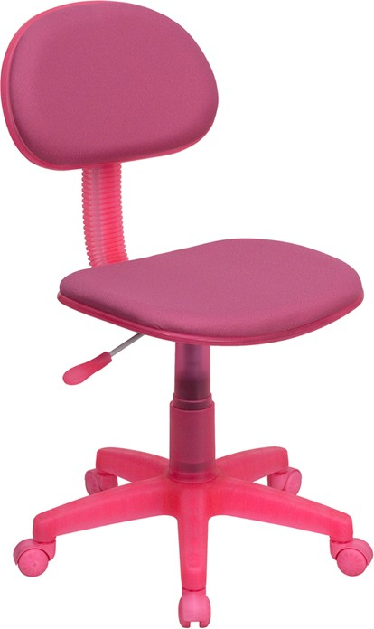 Flash Furniture BT-698-PINK-GG Light Pink Fabric Ergonomic Task Chair
